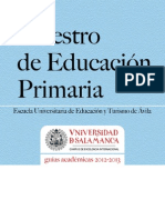 Grado Maestro Educacion Primaria_Avila 2012-2013