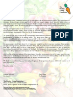 Organic Cover Letter, Consent Form, Questionnaire and Feedback Sheet
