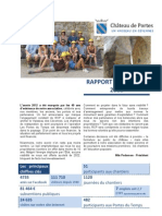 Rapport d'activités de Renaissance du Château de Portes 2012