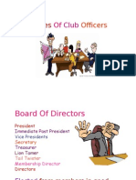 Duty of Club Officers- Share 070409