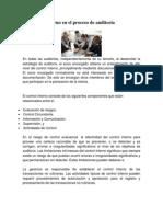 El Control Interno en el proceso de auditoría