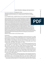 Optimizing dissolved air flotation design and saturation