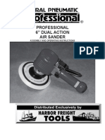 Six Inch Dual Action Air Sander 90288
