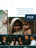 Manual on Conducting a National Inquiry into Systemic Patterns of Human Rights Violations