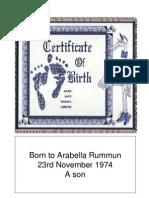 Birth Certificate - Prop