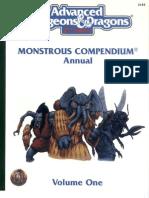 TSR 2145 Monstrous Compendium Annual Volume 1