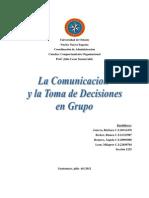 La Comunicacion y Toma de Decisiones en Grupo