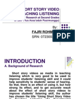 Fajri Rohman - Using Short Story Video in Teaching Listening