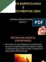 Aborto Espontaneo y Aborto Provocado