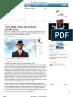 1976-1983 - Psicoanálisis - Años de divanes alambrados