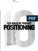 10 Rules of Product Positioning