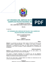 09. Ley Orgánica del Servicio de Policía y del Cuerpo de Policía Nacional Bolivariana