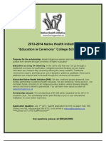 2013 - 2014 NHI Education is Ceremony Scholarship Info and Application