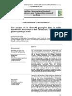 Iosif Daniel - Une analyse de la diversité paysagère dans la vallée danubienne des Portes de Fer (Roumanie) et le rôle de la géomorphologie locale