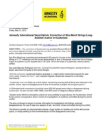 Amnesty International Press Release