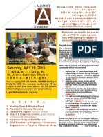 Gca May 2013 Newsletter -E-Ver With Insert