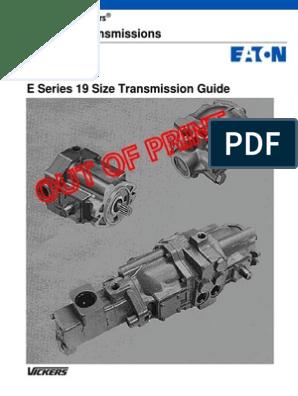 Transmision Bobcat  Vickers TA1919v | Transmission