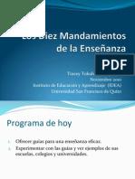 Diez Mandamientos de La Ensenanza(Tracey Tokuhama-Espinosa)