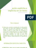 Información explícita e implícita en un texto