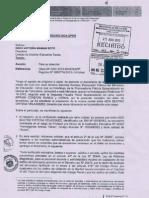 Oficio Nº 2308-2013-MINEDU/SG-OGA-UPER, Separación por DELITO DE TERRORISMO.