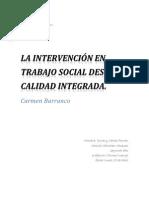 Disertacion Barranco. La intervención en trabajo social desde la calidad integrada - Informe