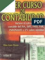 primer curso de contabilidad, elías lara flores, trillas, 16a edición