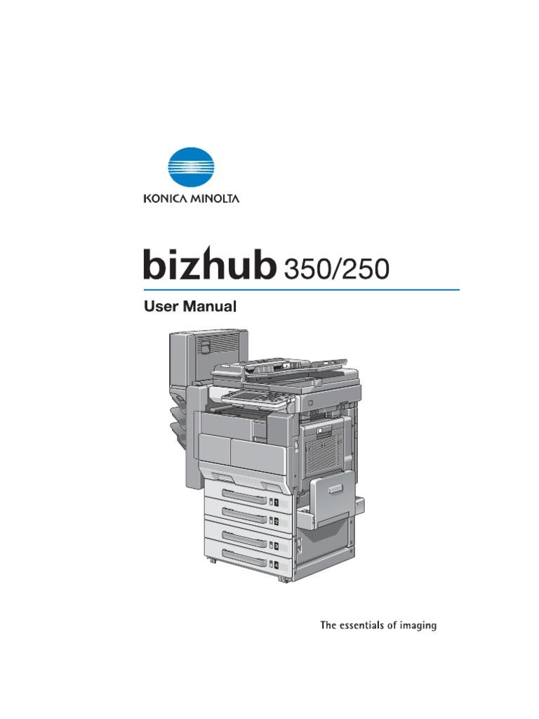 Bizhub 250 350 - User Guide | Page Layout | Copyright