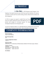 Company Profile For  Festive Travels Sdn Bhd