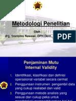 metodologi2 drg.soetomo nawawi, Sp.Perio