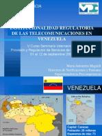 Institucionalidad Regulatoria Venezuela