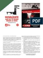 Díptico campaña crisis PCE Villalba