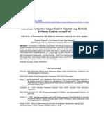 Efectivitas Fermentasi Dengan Sumber Substrat Yang Berbeda Terhadap Kualitas Jerami Padi