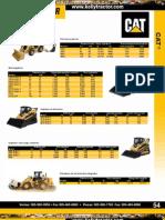 Catalogo Comparacion Maquinarias Caterpillar