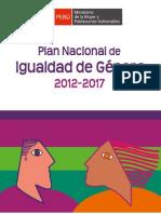 Plan Nacional de Igualdad de Genero