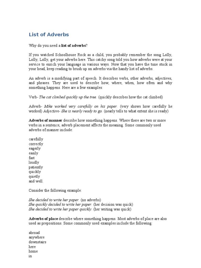 Uncategorized Lolly Lolly Adverbs list of adverbs lexical semantics adverb