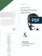 Paz, Octavio. El camino de la pasión López Velarde