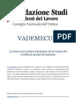225 CONSULENTI_LAVORO Vademecum Certificati Malattia Sett2011