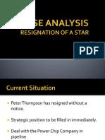 Resignation of a Star