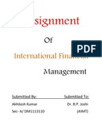 Assignment of IFM on FDI and FII
