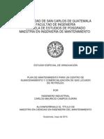 08_0198_MT Plan de Mantenimiento Para Centro de Almacenamiento y Comercializacion de Gas Licuado