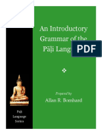 Bomhard - An Introductory Grammar of the Pali Language