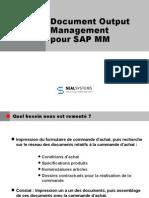 SAP MM Génération et distribution de dossiers commandes d'achat