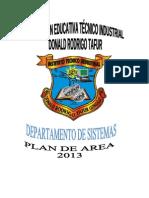 Plan de Area Sistemas Mayo 2013