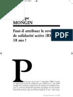 Mongin Faut-Il Attribuer Le Revenu