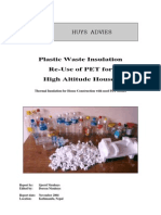 Plastic Waste Insulation Re-Use PET