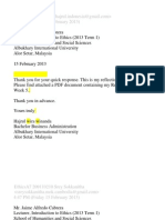 ETHICS Professional Emails