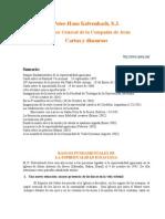Kolvenbach Peter Hans Cartas y Discursos