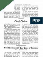 TasNat 1907 Vol1 No1 Pp6-10 Elliott SwanShooting