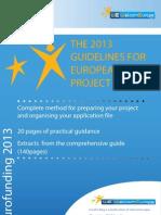 GuideEN Projet Europeen 2011