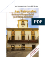 Programa de Las Fiestas Patronales de Archena 2013